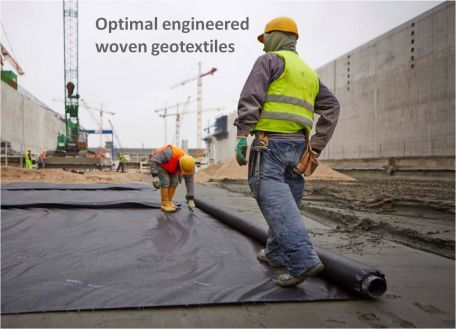 Optimal engineered woven geotextiles