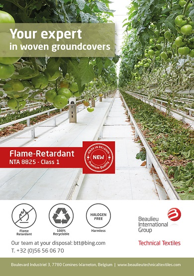 White groundcovers, Flame Retardant in halogen-free version